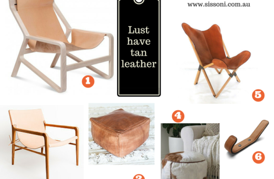 Sissoni Style Files – Tan Leather