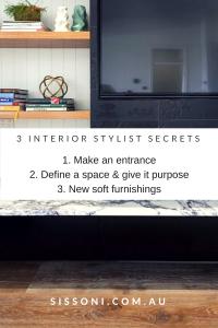3 Interior stylist secrets