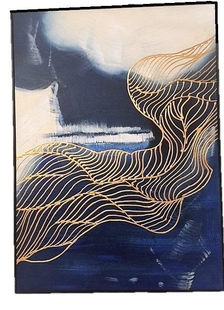 blue gold art