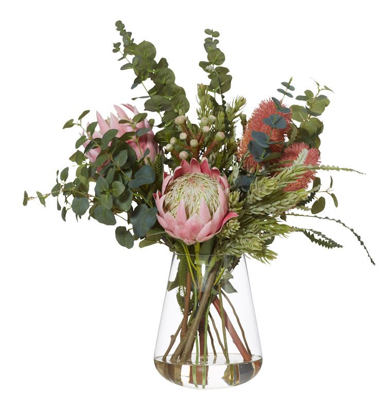 artificial floral arrangement banksia