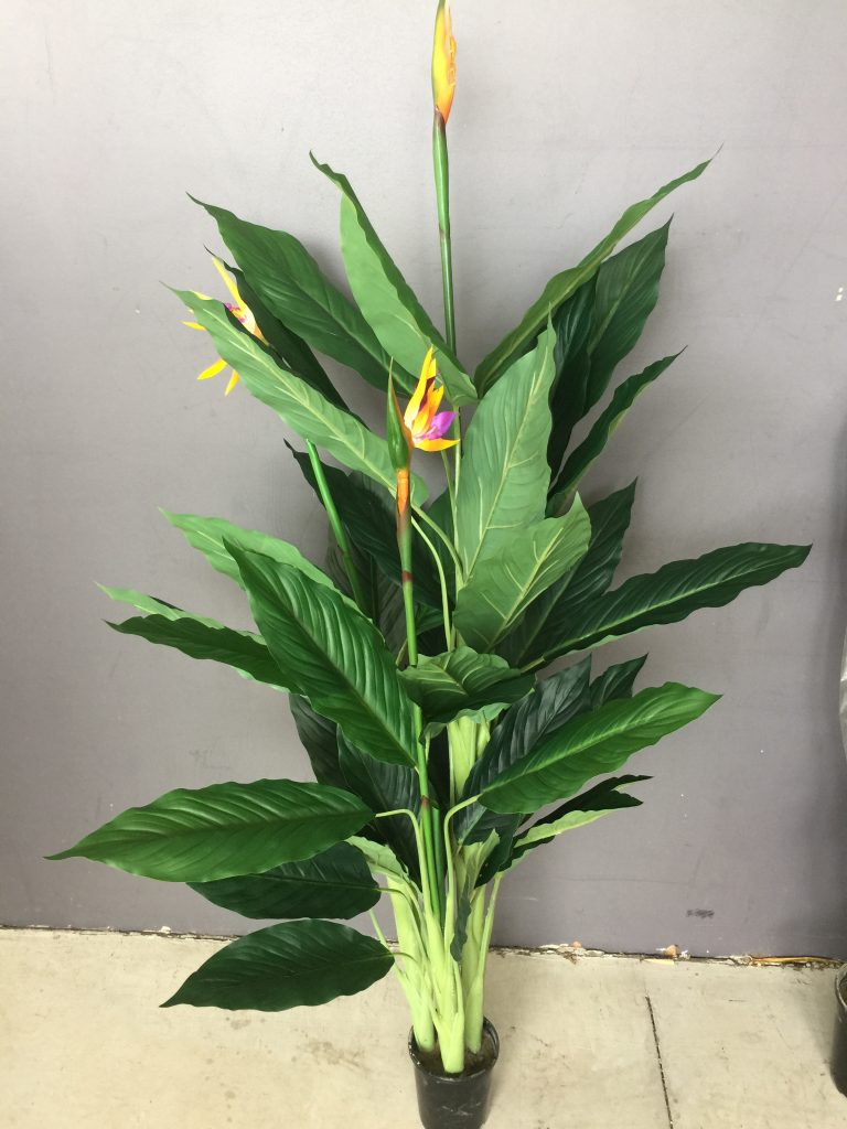 artificial plant bird of paradise